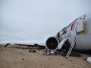 B777 de Asiana Airlines tras el accidente sufrido en el Aeropuerto de San Francisco. Imagen: NTSB