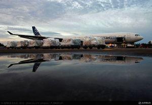 Vuelo de Airbus y Cruz Roja con material médico para refugiados sirios en Jordania. Foto Airbus