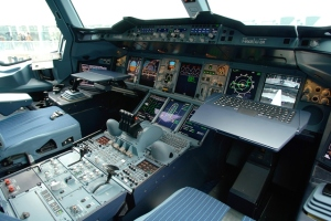 Cabina del A380. Foto Airbus