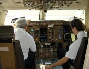 Pilotos en cabina