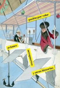 Imagen de la exposición. Dibujo de Joaquín Xaudaró. El autovolátil. 1908. Museo ABC