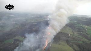 Imagen de los incendios que han afectado al Norte de España en el mes de diciembre (imagen SEPA)